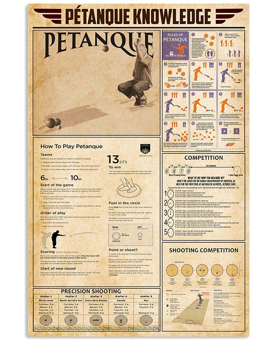 Pétanque Knowledge 11x17 Poster