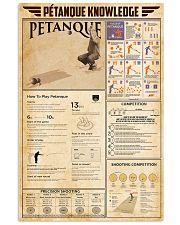 Pétanque Knowledge 11x17 Poster front