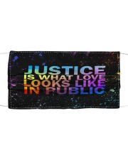 Justice look watercolor Cloth face mask thumbnail