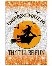 Witch underestimate me phone case 11x17 Poster thumbnail