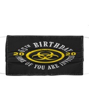 65th Birthday None invited Cloth face mask thumbnail