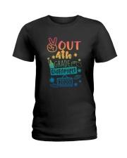 4th grade Peace Out Ladies T-Shirt thumbnail