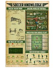 Soccer knowledge 11x17 Poster front