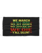 Black People Shirt Cloth face mask thumbnail