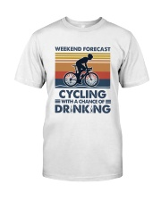 Cycling Forecast Classic T-Shirt front