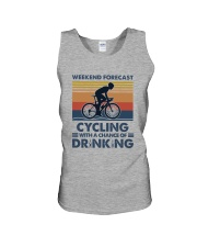 Cycling Forecast Unisex Tank tile