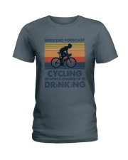 Cycling Forecast Ladies T-Shirt tile