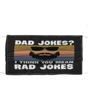 Dad jokes rad jokes Cloth face mask thumbnail