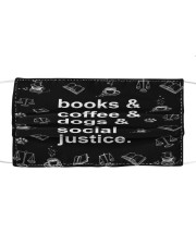 Books coffee dogs justice Cloth face mask thumbnail
