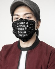 Books coffee dogs justice 2 Layer Face Mask - Single aos-face-mask-2-layers-lifestyle-front-08