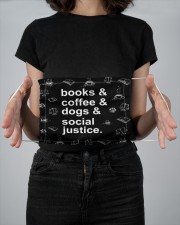 Books coffee dogs justice 2 Layer Face Mask - Single aos-face-mask-2-layers-lifestyle-front-14