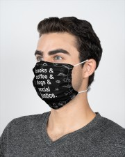 Books coffee dogs justice 2 Layer Face Mask - Single aos-face-mask-2-layers-lifestyle-front-21