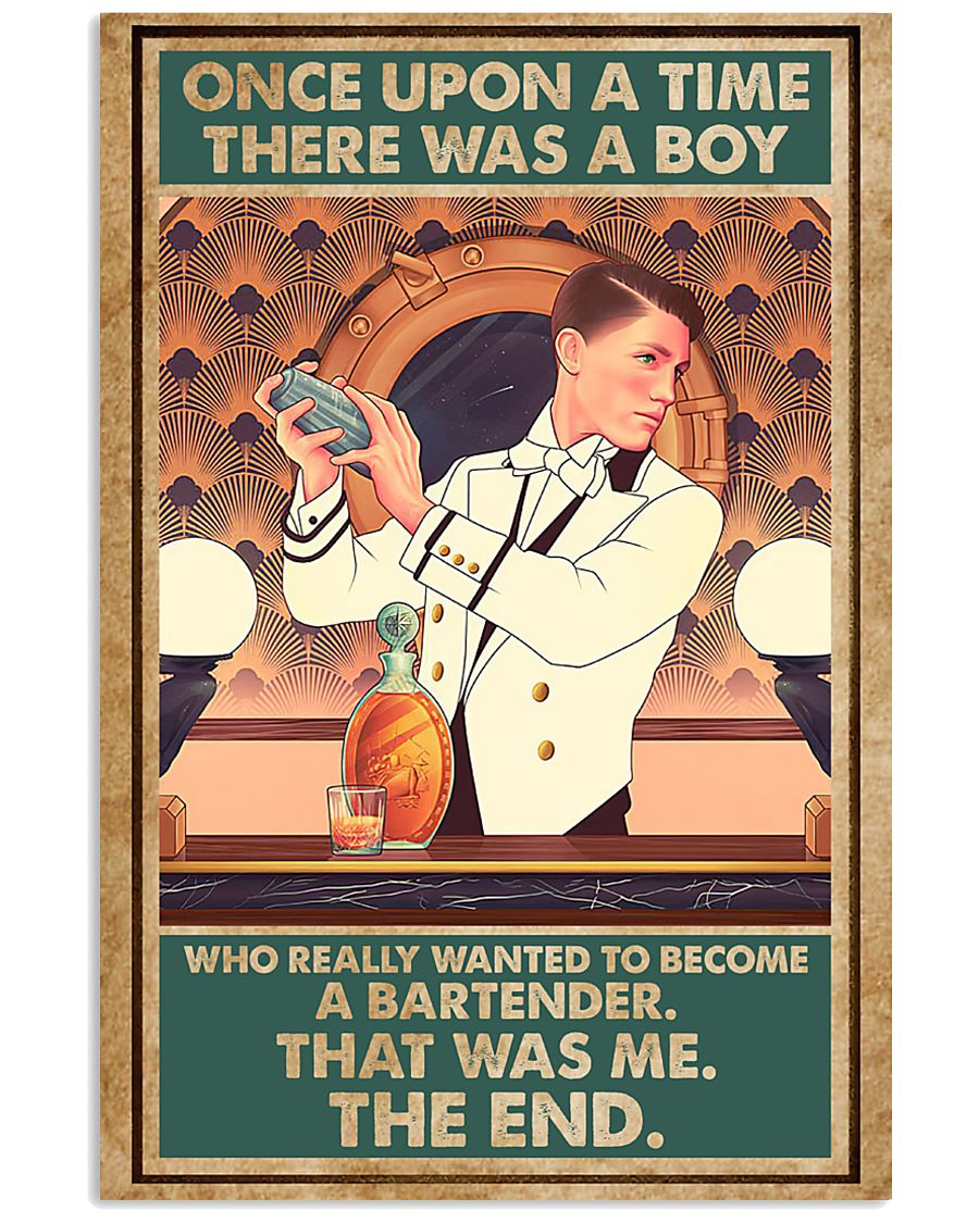 A boy wanted to become bartender 11x17 Poster