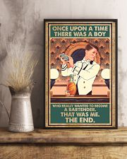 A boy wanted to become bartender 11x17 Poster lifestyle-poster-3