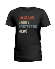 Daddy Hero protector Ladies T-Shirt tile