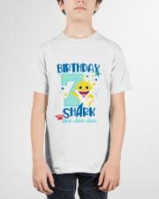 7 Blue Birthday Shark-1 Youth T-Shirt garment-youth-tshirt-front-01