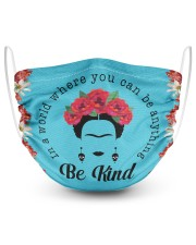 Frida Kahlo be kind 2 Layer Face Mask - Single thumbnail