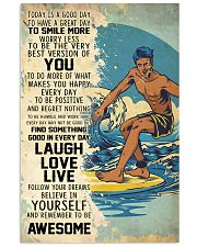 Big Wave Surfing Today Is A Good Day 11x17 Poster front