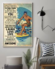Big Wave Surfing Today Is A Good Day 11x17 Poster lifestyle-poster-1