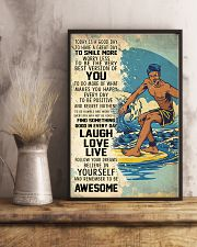 Big Wave Surfing Today Is A Good Day 11x17 Poster lifestyle-poster-3