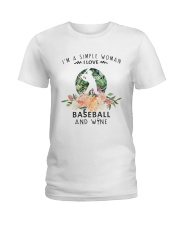 Baseball Simple Woman Ladies T-Shirt front