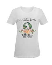 Baseball Simple Woman Ladies T-Shirt women-premium-crewneck-shirt-front