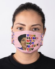 Audre Lorde your silence Cloth face mask aos-face-mask-lifestyle-01