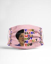 Audre Lorde your silence Cloth face mask aos-face-mask-lifestyle-22