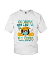 White Girl 4th grade Goodbye quarantine Youth T-Shirt front