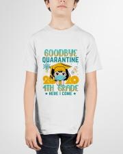 White Girl 4th grade Goodbye quarantine Youth T-Shirt garment-youth-tshirt-front-01