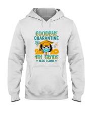 White Girl 4th grade Goodbye quarantine Hooded Sweatshirt thumbnail