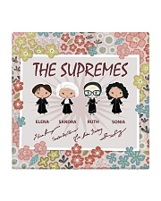 the supremes floral coaster Square Coaster front