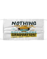 Black Girl Sophomore Stop Me Graduation Cloth face mask thumbnail
