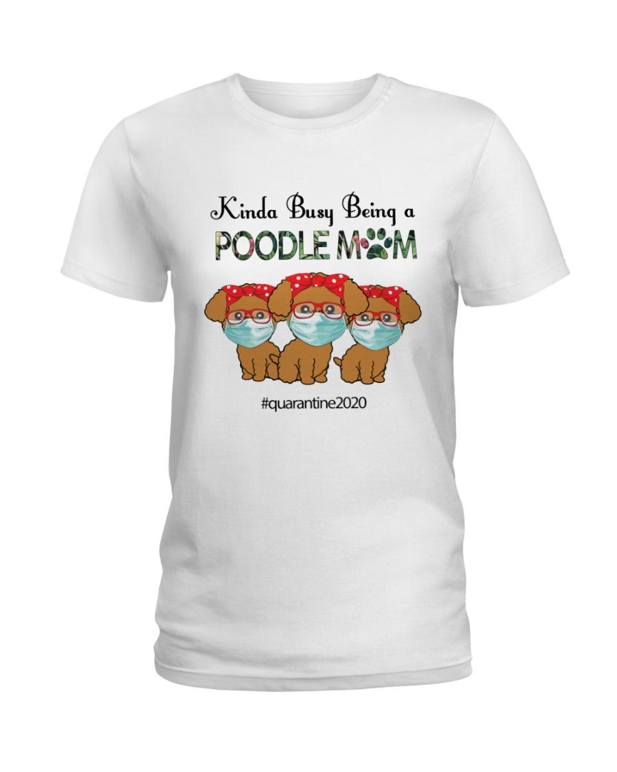 Poodle Kinda Busy Being a Corgi Mom Ladies T-Shirt