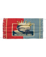 Notorious RBG red blue Cloth face mask thumbnail