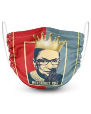 Notorious RBG red blue 2 Layer Face Mask - Single front