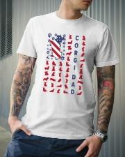 Corgi Dad US flag Classic T-Shirt lifestyle-mens-crewneck-front-6