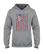 Corgi Dad US flag Hooded Sweatshirt thumbnail