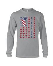 Corgi Dad US flag Long Sleeve Tee thumbnail