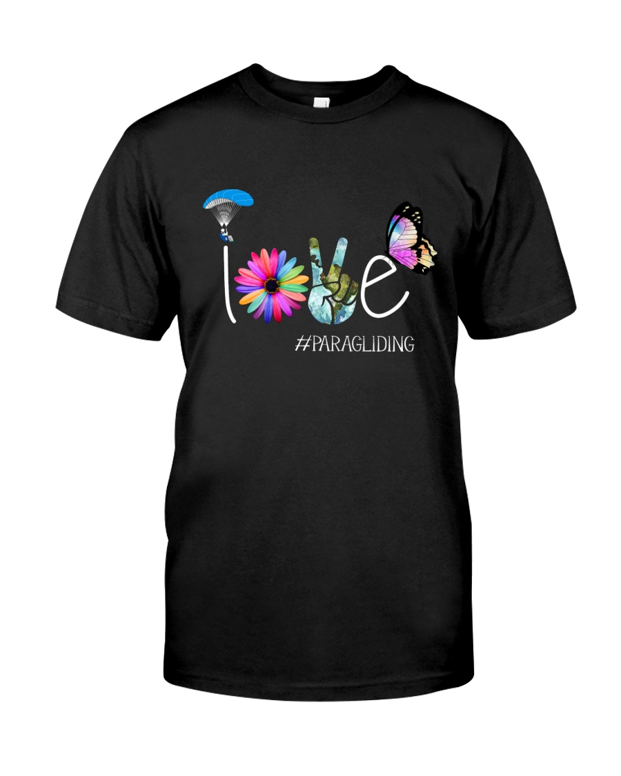 Paragliding Need Love Peace Classic T-Shirt