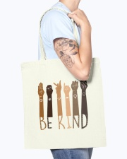Be Kind Hand Tote Bag Tote Bag accessories-tote-bag-BE007-front-model-02