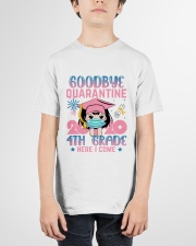 White Girl 4th grade Goodbye quarantine Youth T-Shirt garment-youth-tshirt-front-01