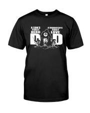 Dad Hero Love Billiards Classic T-Shirt front