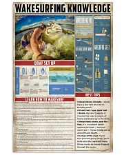 Wakesurfing Knowledge 11x17 Poster front