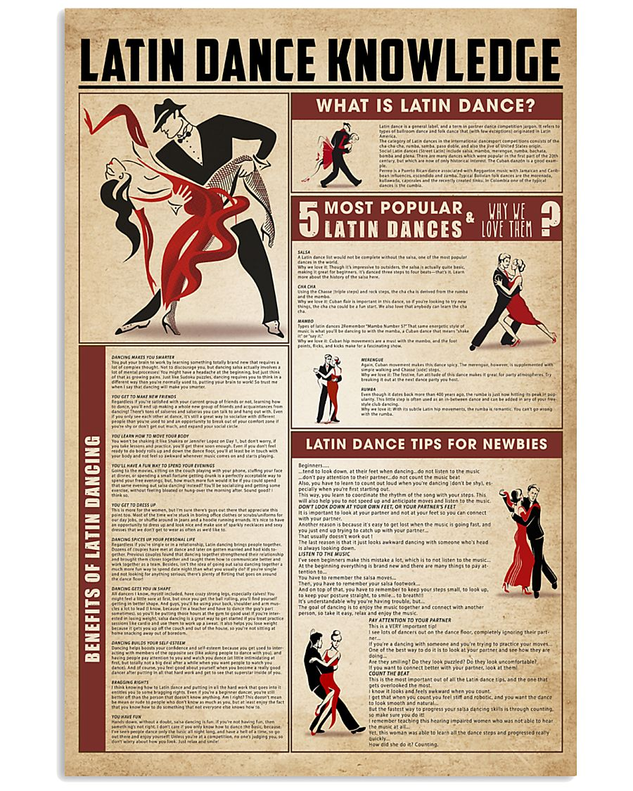 Latin dance knowledge 11x17 Poster