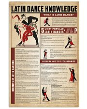 Latin dance knowledge 11x17 Poster front