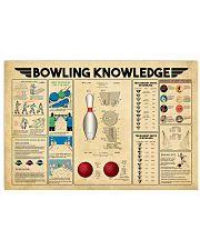 Bowling Knowledge  17x11 Poster front