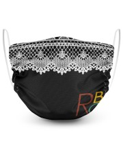 RBG vintage lace 2 Layer Face Mask - Single front