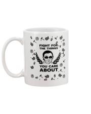 RBG fight pattern mug Mug back