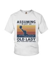 Water Polo Assuming Lady Youth T-Shirt thumbnail